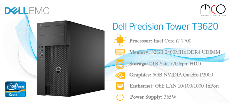 Workstation Dell Precision T3620-i7 7700